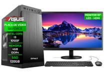 """Computador Completo Fácil by Asus Intel Core i3 10100f (Décima Geração) 4GB Geforce Nvidia 1GB SSD 120GB Monitor 19"""" - Fácil Computadores"""
