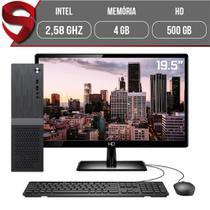 "Computador Completo Intel 2,58Ghz 4GB HD 500GB Monitor 19.5"" HDMI LED Áudio 5.1 canais Slim Skill -"