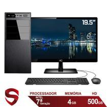 "Computador Completo Intel 7ª Geração 4GB HD 500GB (Placa de vídeo Intel UHD 610) Monitor 19.5"" LED HDMI Skill Pro -"