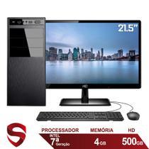 "Computador Completo Intel 7ª Geração 4GB HD 500GB (Placa de vídeo Intel UHD 610) Monitor 21.5"" Full HD HDMI Skill Pro -"