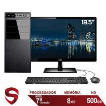 "Computador Completo Intel 7ª Geração 8GB HD 500GB (Placa de vídeo Intel UHD 610) Monitor 19.5"" LED HDMI Skill Pro -"