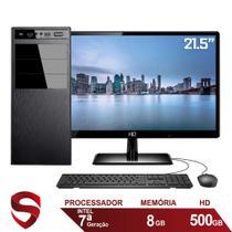 "Computador Completo Intel 7ª Geração 8GB HD 500GB (Placa de vídeo Intel UHD 610) Monitor 21.5"" Full HD HDMI Skill Pro -"