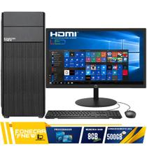 Computador Completo Intel Core 2 Duo 8GB HD 500GB Monitor - F-New