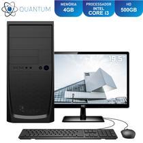 "Computador Completo Intel Core i3 RAM 4GB HD 500GB Monitor 19.5"" LED Quantum Home and Business -"