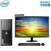 "Computador Completo Intel Core i5 10GB SSD 240GB Monitor 19.5"" LED HDMI Wifi EasyPC Deca -"