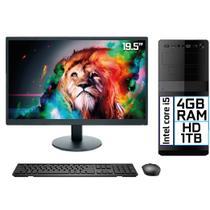 "Computador Completo Intel Core i5 4GB HD 1TB Monitor LED 19.5"" HDMI EasyPC Go - 3Green"