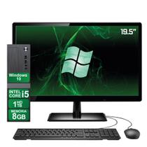 "Computador Completo Intel Core i5 8GB HD 1TB Windows 10 Monitor 19"" HDMI 3green ElitePC Slim -"