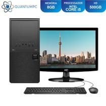 Computador Completo Intel Core i5 8GB HD 500GB Monitor LED HDMI Áudio 5.1 canais Quantum Star -