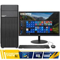 Computador Completo Intel Core I5 8GB HD 500GB Monitor Wifi - F-New