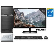 """Computador Completo Intel Core i5 8GB SSD 120GB Monitor LED 19.5"""" HDMI CorPC Fast -"""