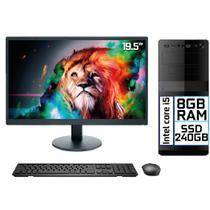"Computador Completo Intel Core i5 8GB SSD 240GB Monitor LED 19.5"" HDMI EasyPC Go -"