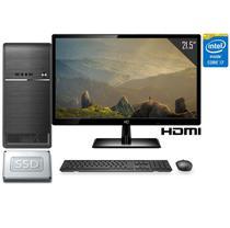 """Computador Completo Intel Core i7 16GB SSD 120GB Monitor Full HD 21.5"""" HDMI CorPC Fast -"""