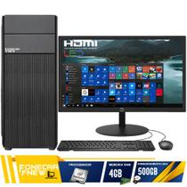 Computador Completo Intel Dual Core 4gb Hd500gb Monitor Wifi - Fnew