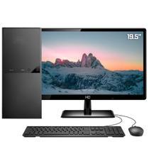 "Computador Completo Intel Dual Core 4GB SSD 240GB Monitor 19.5"" HDMI Full HD Áudio 5.1 canais Skill DC -"