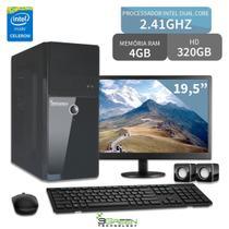 """Computador Completo Monitor 19,5"""" Intel Dual Core 4GB HD 500GB 3green Triumph Business PC CPU Desktop -"""