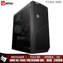 Computador Completo Pichau, AMD A6-7480, 8GB DDR3, SSD 240GB, 500W + Monitor -