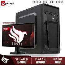 Computador Completo Pichau, Intel I3-9100, H310M, 8GB DDR4, HD 1TB, 500W, Monitor 19'5 -