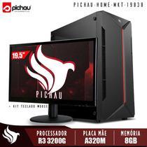 Computador Completo Pichau, Ryzen 3 3200G, 8GB DDR4, HD 1TB, 500W, Monitor 19'5, Kit Teclado e Mouse -