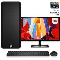 """Computador CorpC Graphics Intel Core i7 8GB (Placa de vídeo GeForce GT) SSD 240GB Monitor LED 19.5"""" -"""