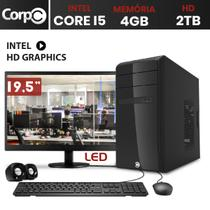 Computador CorPC Intel Core i5 4GB DDR3, HD 2TB e Monitor LED 19.5