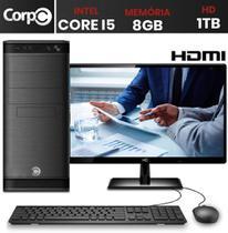 Computador CorPC Intel Core i5 8GB DDR3, HD 1TB e Monitor LED 19.5 -