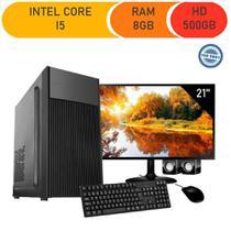 Computador Corporate Asus Core I5 4 Geração 8gb Ddr3 Hd 500gb Monitor 21.5 + Kit -