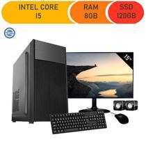 Computador Corporate Asus I5 8gb 120gb Ssd Dvdrw Kit Multimídia Monitor 15 -