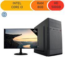 Computador corporate asus intel core i3 3.10ghz memória 8gb ddr3 hd 500gb windows monitor led 23 -