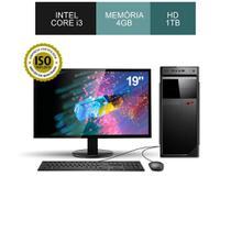 Computador corporate asus intel core i3 memória 4gb ddr3 hd 1tb monitor 19 win kit teclado e mouse -