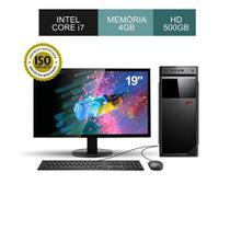 Computador Corporate Asus Intel Core I7 Memória 4gb Hd 500gb Windows Kit Teclado e Mouse Monitor 19 -