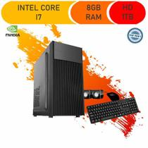 Computador Corporate I7 8gb Hd 1tb Dvdrw Kit Multimídia Windows 10 Gt 210