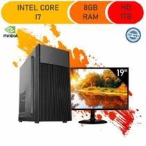 Computador Corporate I7 8gb Hd 1tb Dvdrw Monitor 19 Windows 10 Gt 210