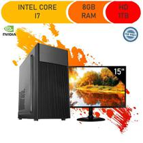 Computador Corporate I7 8gb Hd 1tb Monitor 15 Gt 210