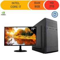 Computador Corporate I7 8gb Hd 2 Tb Monitor 19 Windows 10 Gt 210 -