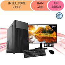 Computador Corporate Intel Core 2 Duo E8400 4gb de Ram Hd 500 Gb Kit Multimídia Monitor 19 - Icc