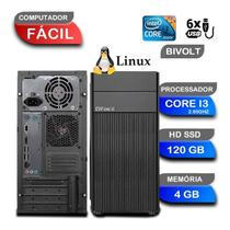 Computador CPU Fácil Intel Core I3 2,93 4gb Ddr3 Hd 120gb SSD - Facil