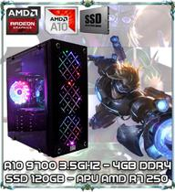 Computador Cpu Pc Gamer A10 9700 Quad Core 3.5gz 4gb Ddr4 Apu R7 250 Ssd 120gb Newex Vortex - Amd