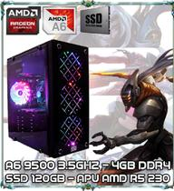 Computador Cpu Pc Gamer A6 9500 Dual Core 3.5gz 4gb Ddr4 Apu R5 230 Ssd 120gb Newex Vortex - Amd
