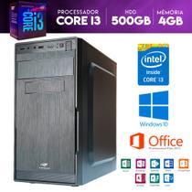 Computador Descktop Intel Core i3 500GB HDD 4GB Memória - Yes shop