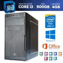 Computador Descktop Intel Core i3 500GB HDD 4GB Memória - Yesstech