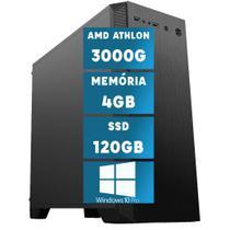 Computador Desktop AMD Athlon 3000G 4GB (Placa de vídeo RADEON R5) SSD 120GB Windows 10 Pro HDMIL Full HD DC2 - Skill
