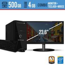 Computador Desktop com Monitor 23,5 HDMI  Processador Intel I3 4GB HD 500 Linux - EVEREX