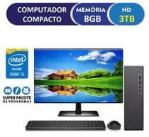 """Computador Desktop Compacto EasyPC Intel Core i5 8GB HD 3TB com Monitor LED 19.5"""" HDMI mouse e teclado -"""