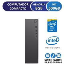Computador Desktop Compacto EasyPC Intel Core i5 8GB HD 500GB com saída HDMI Full HD -