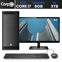 "Computador Desktop Completo com Monitor 19.5"" Intel Core i7 8GB HD 3TB HDMI FullHD CorPC Space -"