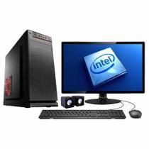 Computador Desktop Completo Intel Core i3 3.10GHZ / 6GB DDR3 / HD 500GB / SSD 240GB / Monitor Led 19 / Gravador de DVD - Flex Computer