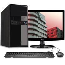 Computador Desktop Completo Quantum Intel Core i3 6GB HD 320GB Monitor HDMI LED com mouse e teclado -