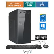 Computador Desktop EasyPC Intel Core i5 8GB HD 2TB Windows 10