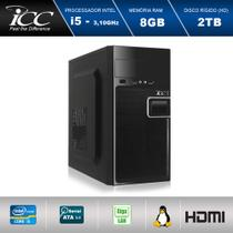 Computador Desktop Icc Intel Core i5 8gb HD 2tb -