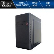 Computador Desktop ICC IV1882S Intel Dual Core 2.41ghz 8GB HD 1TB USB 3.0 HDMI FULL HD -